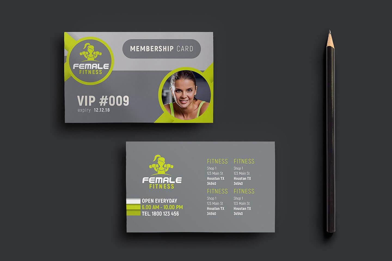 15+ Membership Card Designs | Design Trends - Premium Psd In Gym Membership Card Template