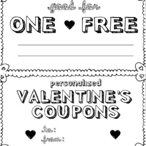 15 Sets Of Free Printable Love Coupons And Templates inside Dinner Certificate Template Free