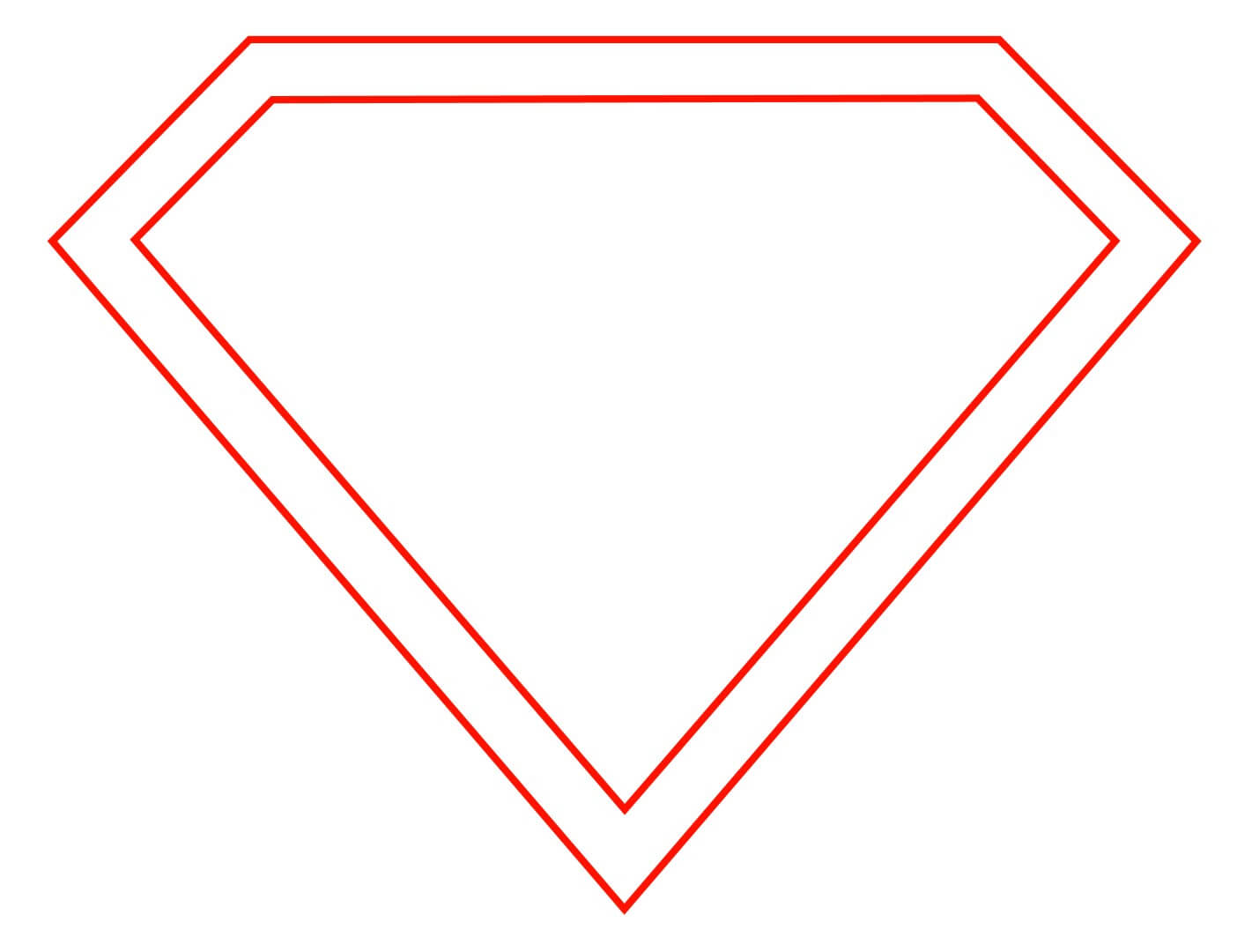 15 Superman Logo Template Images - Printable Superman Logo Intended For Blank Superman Logo Template