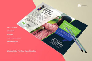 16 + Double-Sided Flyers – Word, Psd, Ai, Eps Vector in One Sided Brochure Template