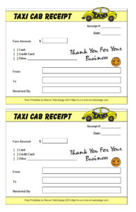 16+ Free Taxi Receipt Templates – Make Your Taxi Receipts Easily intended for Blank Taxi Receipt Template