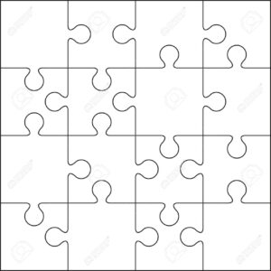 16 Jigsaw Puzzle Blank Template Or Cutting Guidelines throughout Blank Jigsaw Piece Template
