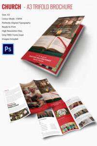16+ Popular Church Brochure Templates – Ai,psd, Docs, Pages Throughout Free Church Brochure Templates For Microsoft Word