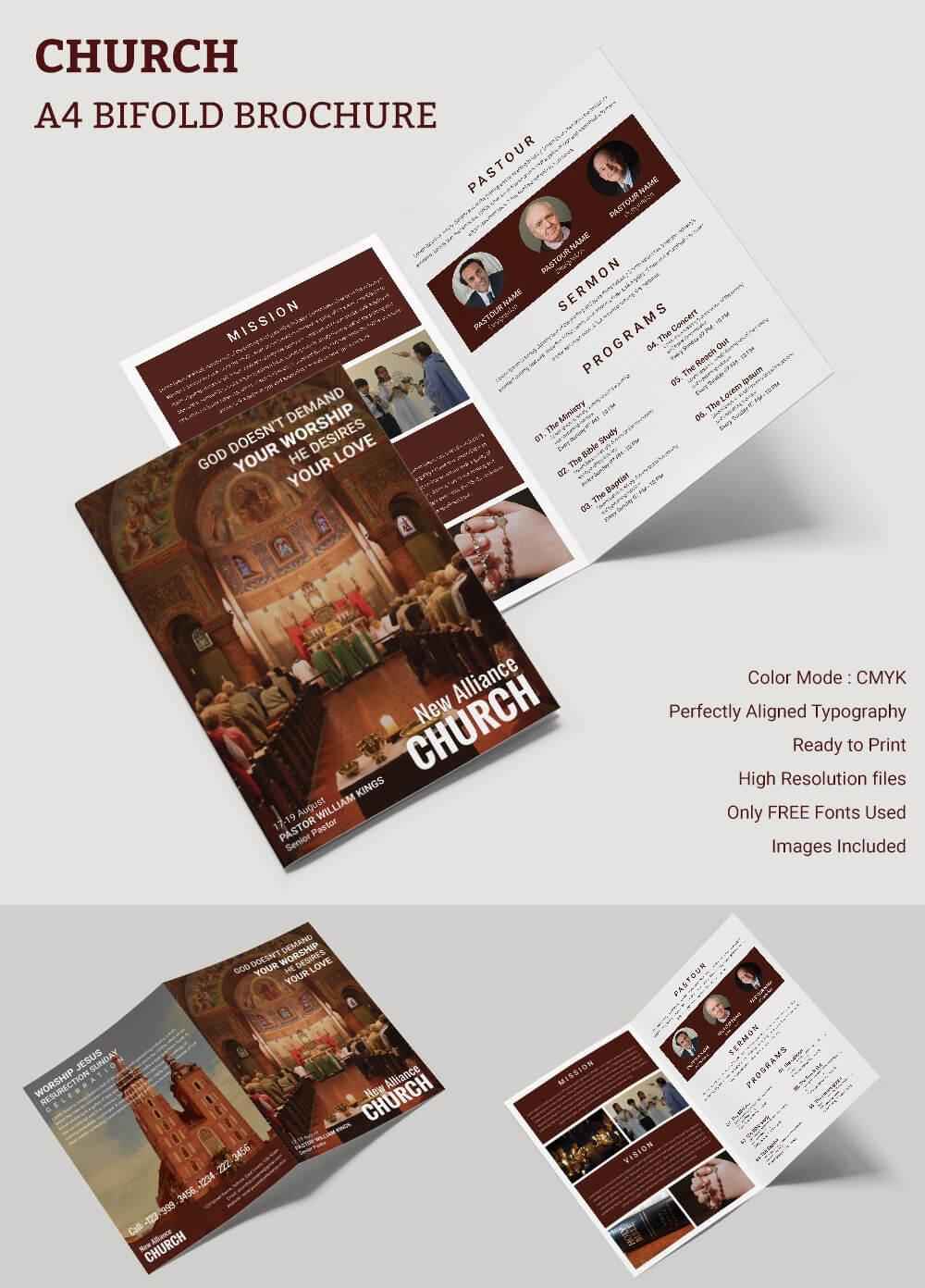 16+ Popular Church Brochure Templates – Ai,psd, Docs, Pages With Regard To Free Church Brochure Templates For Microsoft Word