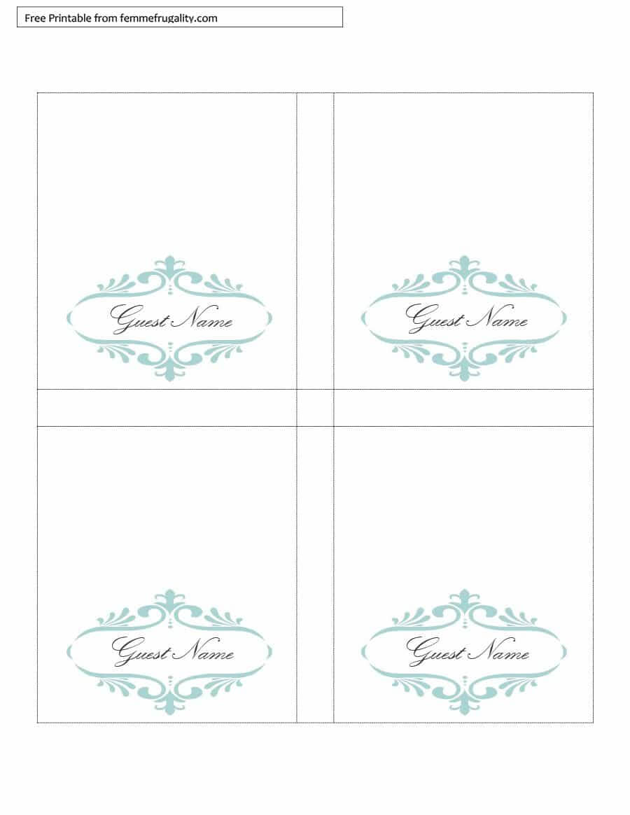 16 Printable Table Tent Templates And Cards ᐅ Template Lab Intended For Name Tent Card Template Word