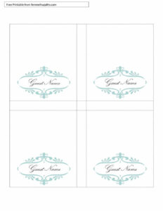 16 Printable Table Tent Templates And Cards ᐅ Template Lab throughout Tent Name Card Template Word