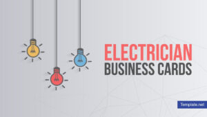 17+ Electrician Business Card Designs & Templates – Psd, Ai pertaining to Business Cards For Teachers Templates Free