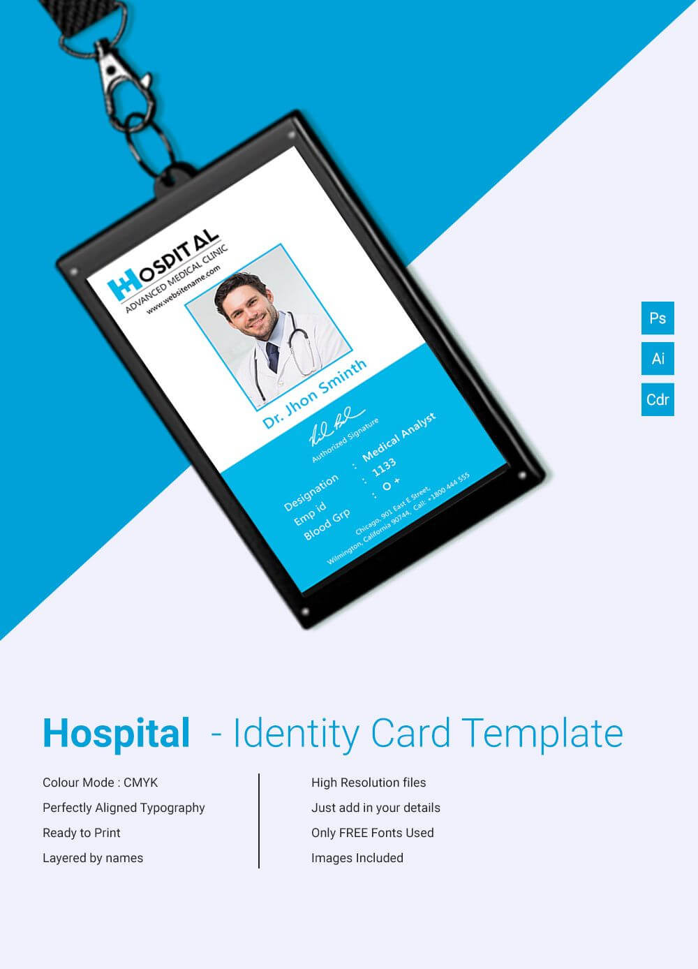 18+ Id Card Templates - Free Psd Documents Download | Psd Within Conference Id Card Template