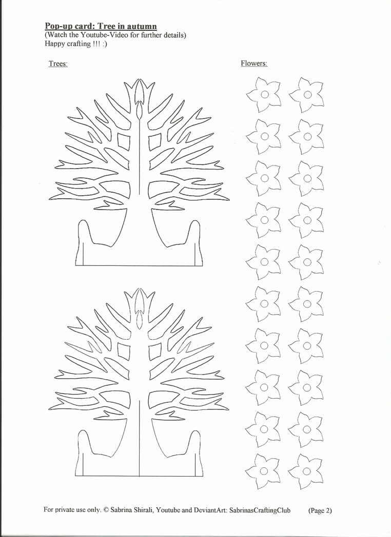 18 New Pop Up Birthday Card Templates Free Download With Pop Up Tree Card Template