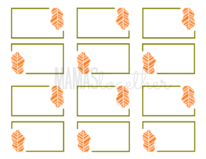 19 Elegant & Fun Printable Place Cards | Kittybabylove regarding Thanksgiving Place Card Templates