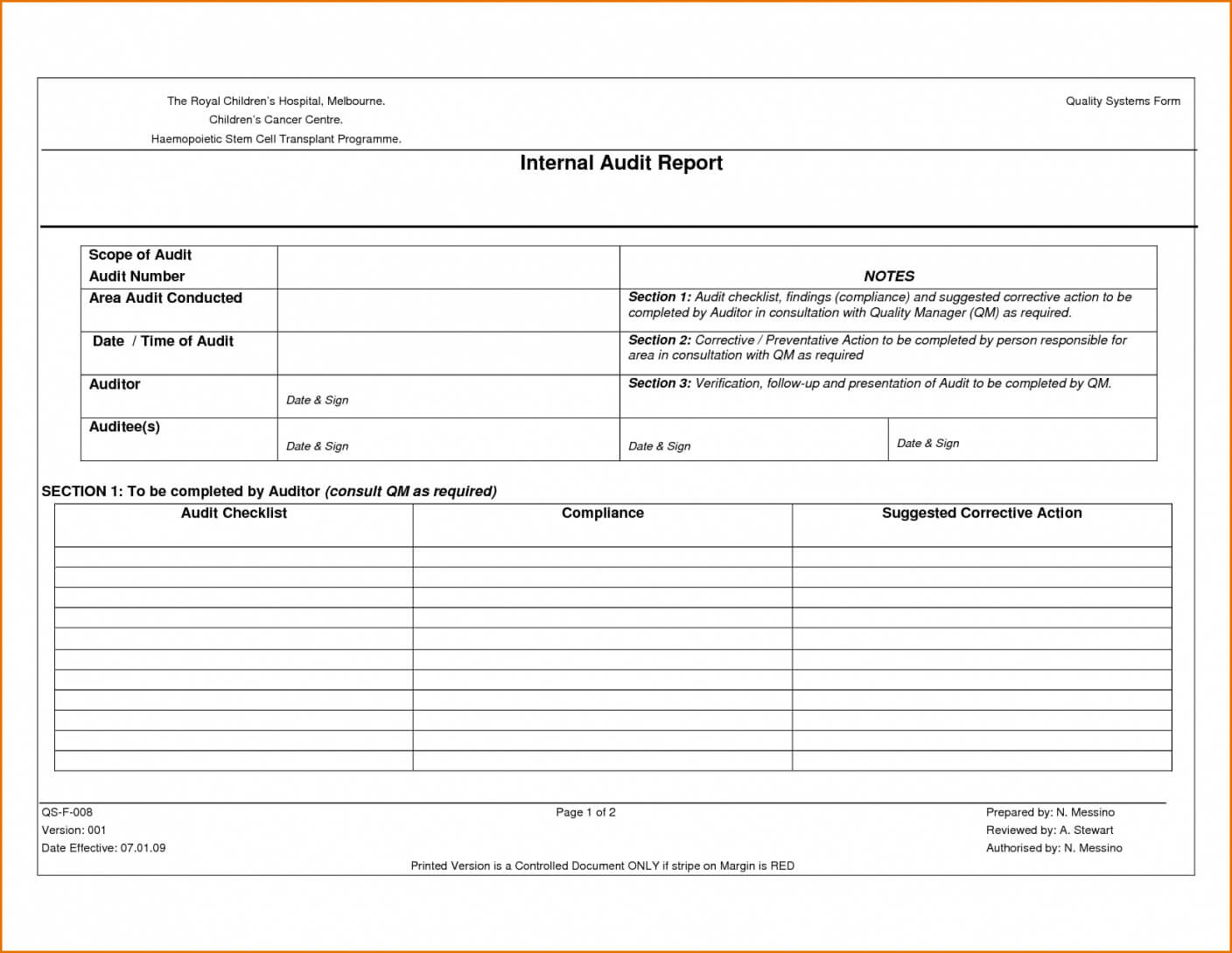 19+ Internal Audit Report Template | Supplier Quality Audit Regarding Gmp Audit Report Template