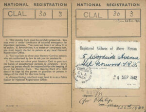 1939 Register | The Wartime National Register | Trace Ww2 in World War 2 Identity Card Template