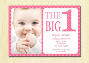 1St Birthday Invitation Cards Templates Free | Theveliger for First Birthday Invitation Card Template