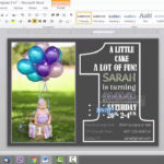 1St Birthday Invitation Template For Ms Word Intended For Microsoft Word Birthday Card Template
