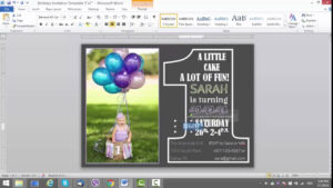 1St Birthday Invitation Template For Ms Word pertaining to Birthday Card Template Microsoft Word