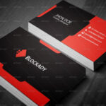 2 Colors Creative Business Card Template V.2Kazierfan For Web Design Business Cards Templates