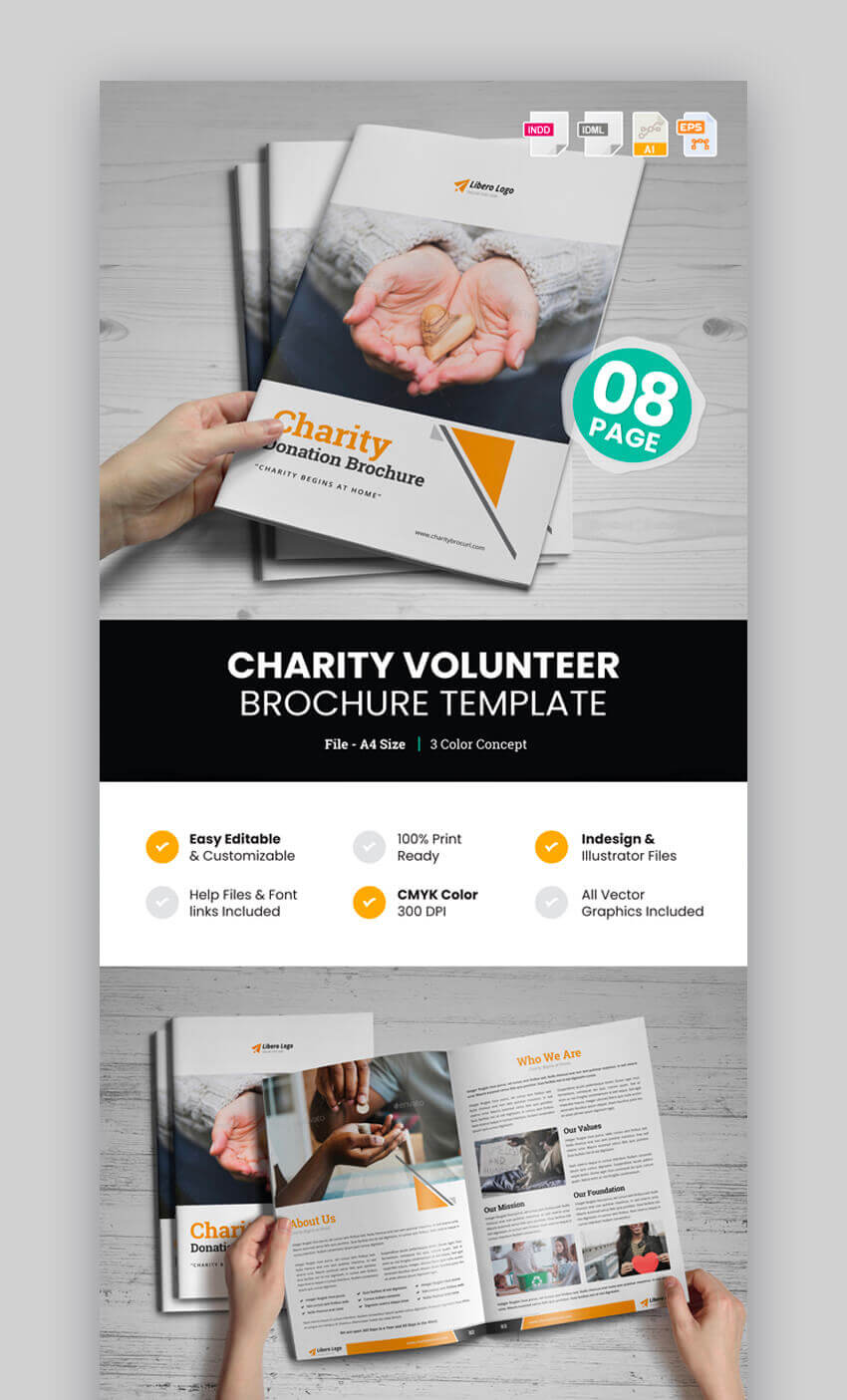 20 Best Professional Business Brochure Design Templates For 2019 In Volunteer Brochure Template