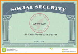 20+ Blank Social Security Card Template regarding Blank Social Security Card Template
