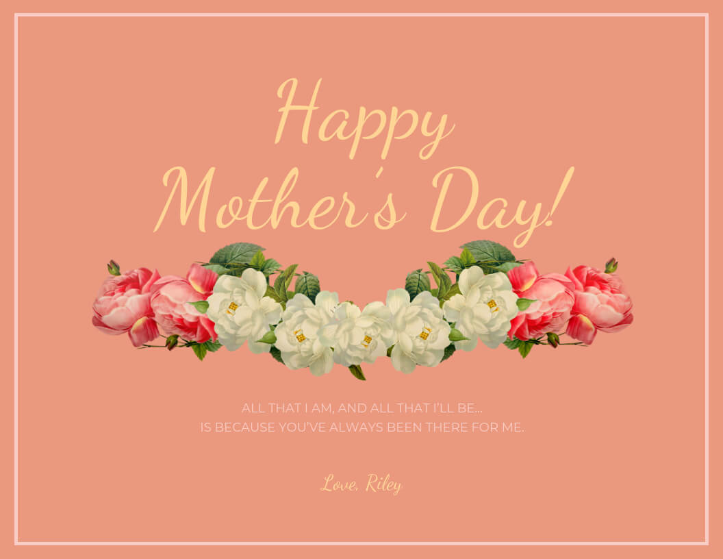 20+ Creative Mother's Day Card Templates [Plus Design Tips Inside Mothers Day Card Templates