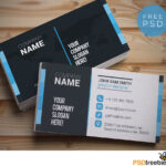 20+ Free Business Card Templates Psd - Download Psd regarding Name Card Design Template Psd