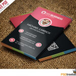 20+ Free Business Card Templates Psd – Download Psd With Regard To Visiting Card Templates For Photoshop