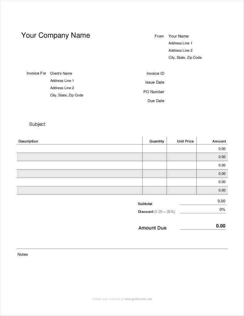 20+ Free Pay Stub Templates – Free Pdf, Doc, Xls Format With Blank Pay Stubs Template