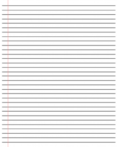 20+ Free Printable Blank Lined Paper Template In Pdf & Word Regarding Ruled Paper Template Word