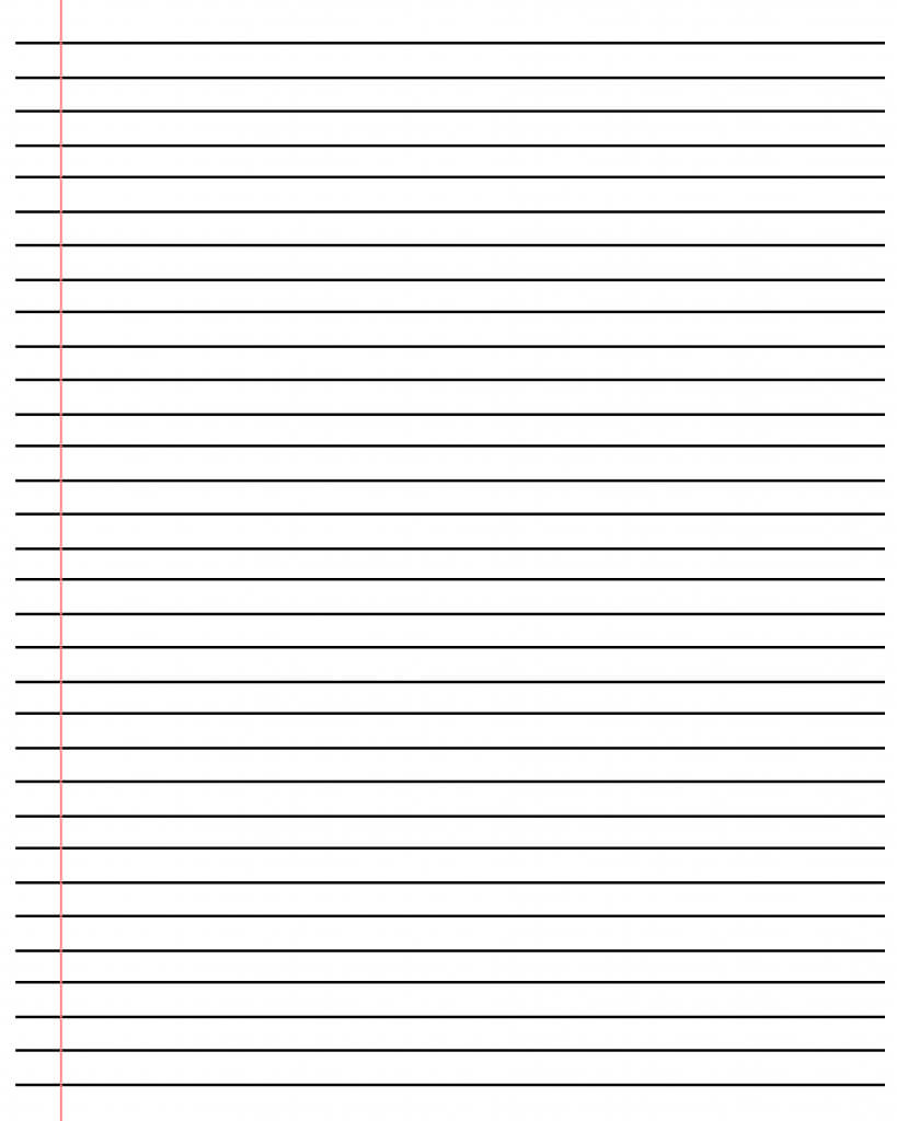 20+ Free Printable Blank Lined Paper Template In Pdf & Word Regarding Ruled Paper Template Word