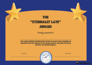 20 Hilarious Office Awards To Embarrass Your Colleagues throughout Funny Certificates For Employees Templates
