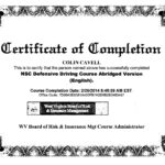 20 Images Of National Safety Council Dui Certificate with regard to Safe Driving Certificate Template
