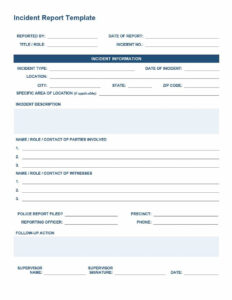 20+ Police Report Template & Examples [Fake / Real] ᐅ For Fake Police Report Template