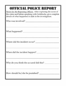 20+ Police Report Template & Examples [Fake / Real] ᐅ inside Police Report Template Pdf