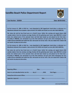 20+ Police Report Template & Examples [Fake / Real] ᐅ with regard to Fault Report Template Word