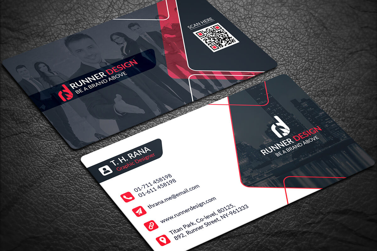 200 Free Business Cards Psd Templates - Creativetacos In Name Card Template Psd Free Download