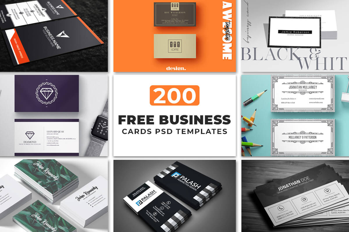 200 Free Business Cards Psd Templates - Creativetacos Inside Free Bussiness Card Template