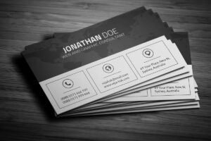 200 Free Business Cards Psd Templates – Creativetacos intended for Black And White Business Cards Templates Free