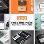200 Free Business Cards Psd Templates – Creativetacos Regarding Name Card Design Template Psd