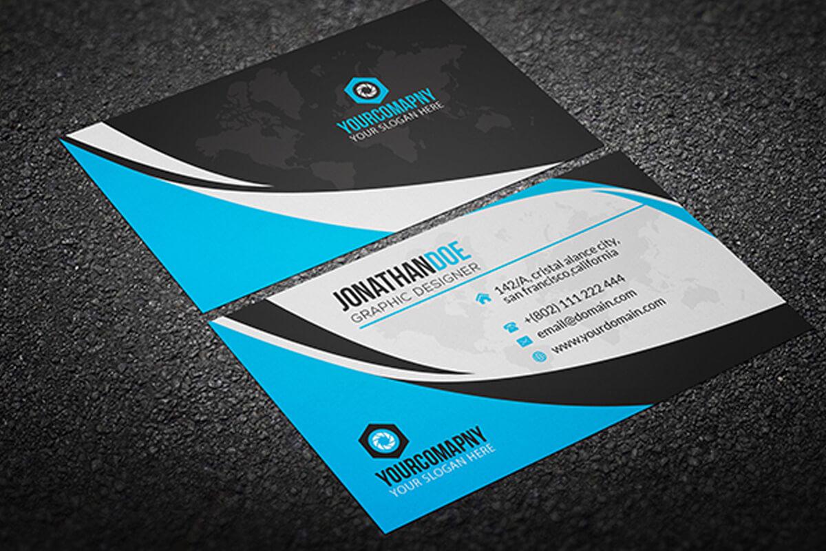 200 Free Business Cards Psd Templates - Creativetacos Regarding Visiting Card Psd Template