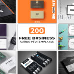 200 Free Business Cards Psd Templates – Creativetacos Throughout Psd Name Card Template