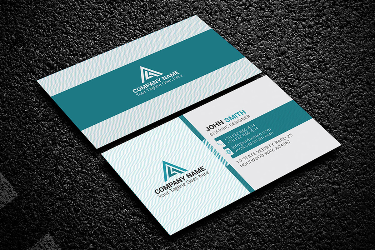 200 Free Business Cards Psd Templates - Creativetacos Throughout Template Name Card Psd