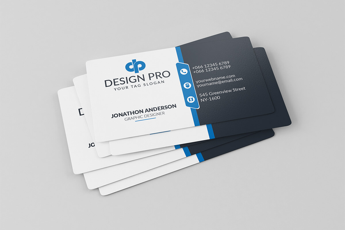 200 Free Business Cards Psd Templates – Creativetacos With Regard To Visiting Card Psd Template Free Download