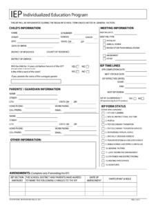2012-2019 Form Oh Pr-07 Iep Fill Online, Printable, Fillable throughout Blank Iep Template