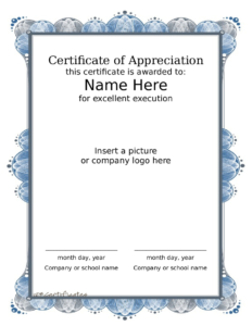 2019 Award Certificate – Fillable, Printable Pdf & Forms intended for Farewell Certificate Template