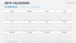 2019 Calendar Powerpoint Templates pertaining to Powerpoint Calendar Template 2015