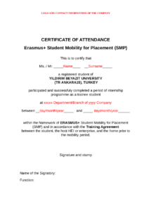 2019 Certificate Of Attendance – Fillable, Printable Pdf for Conference Certificate Of Attendance Template