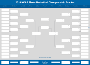 2019 March Madness Bracket (Excel And Google Sheets Template) for Blank March Madness Bracket Template