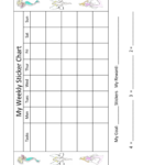 2019 Sticker Charts – Fillable, Printable Pdf & Forms   Handypdf Intended For Blank Reward Chart Template