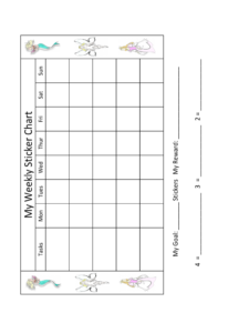 2019 Sticker Charts – Fillable, Printable Pdf & Forms | Handypdf intended for Blank Reward Chart Template
