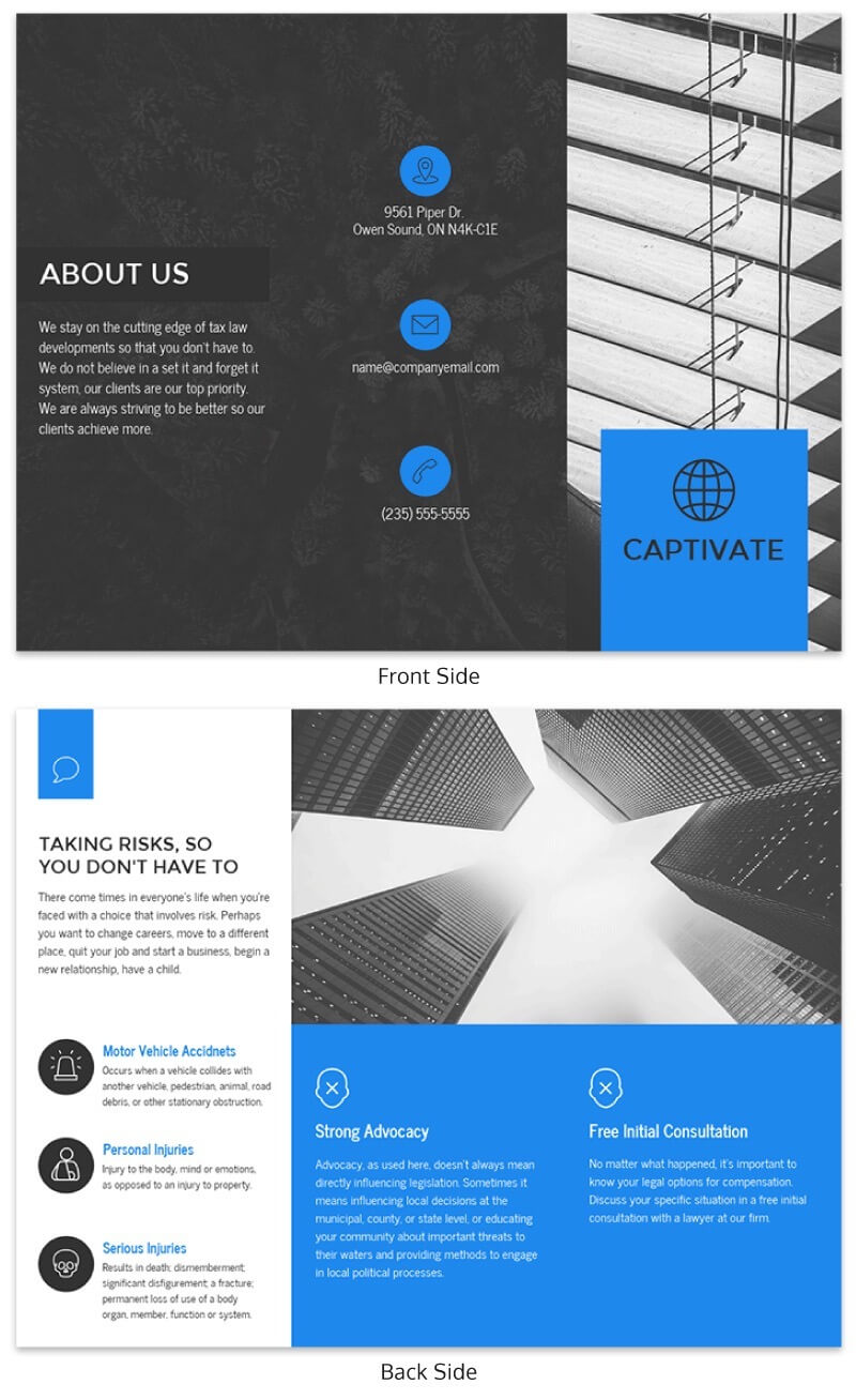 21 Brochure Templates And Design Tips To Inform Your Intended For One Page Brochure Template
