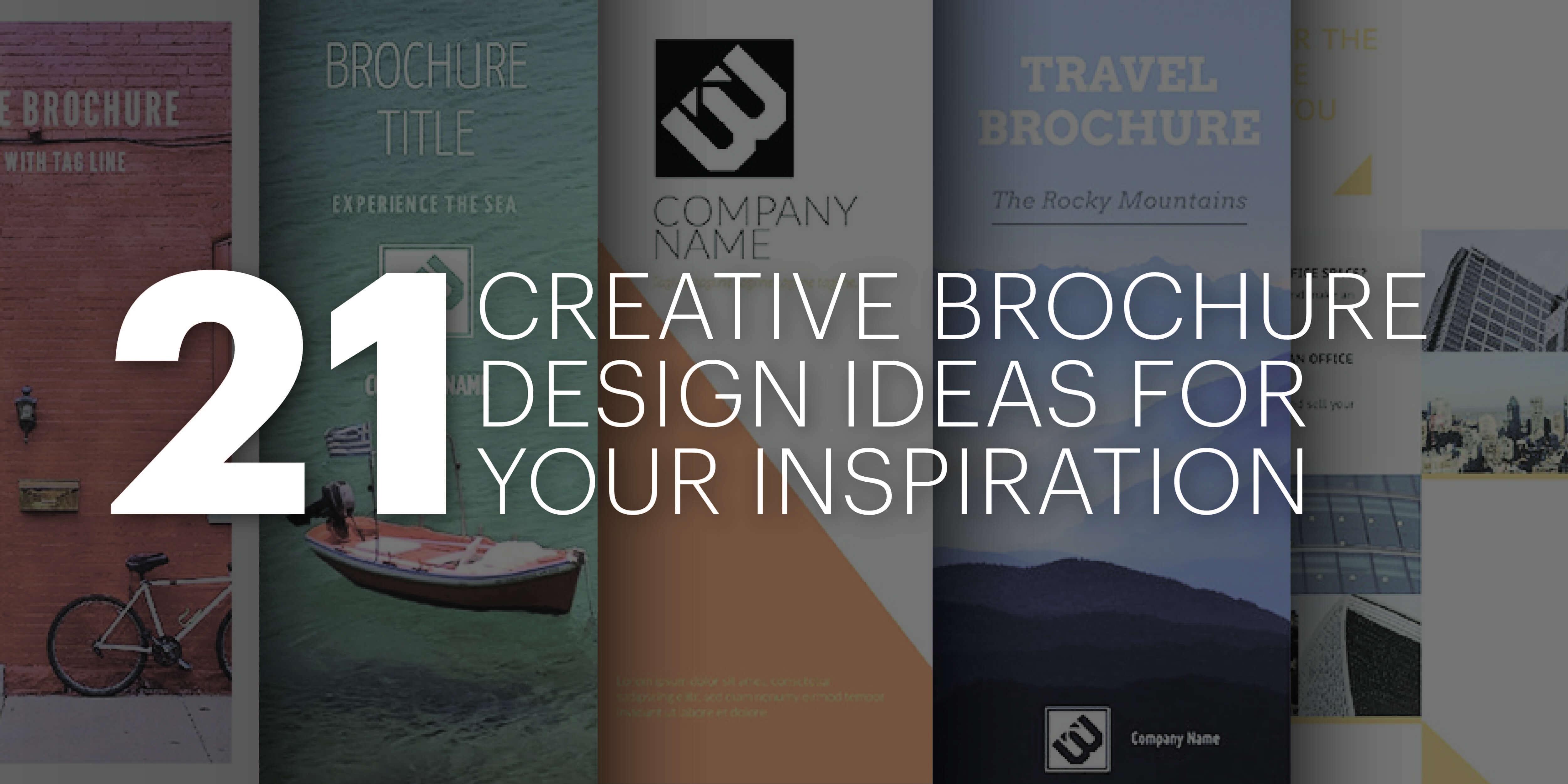 21 Creative Brochure Cover Design Ideas For Your Inspiration In E Brochure Design Templates